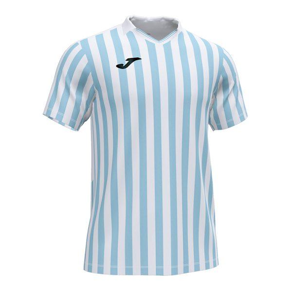 Camiseta Copa II azul claro y blanco