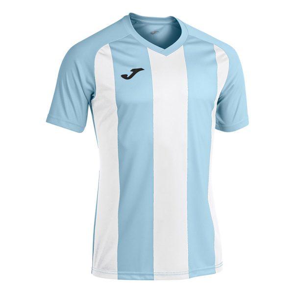 Camiseta Pisa II azul claro y blanco