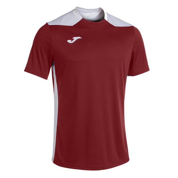 Camiseta Championship VI granate y blanco