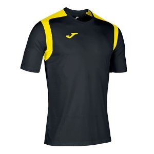 Camiseta Championship V negro y amarillo