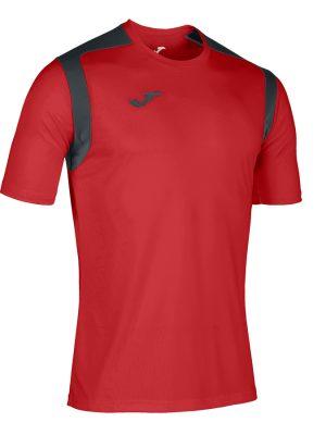 Camiseta Championship V rojo y negro