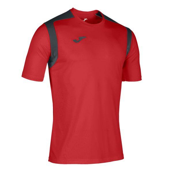 Camiseta Chamionship V rojo y negro