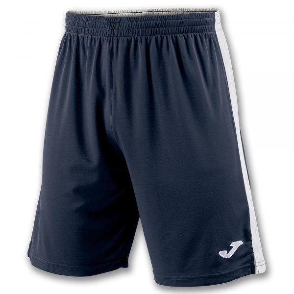 Pantalón azul oscuro y blanco
